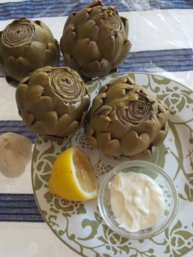 four artichokes