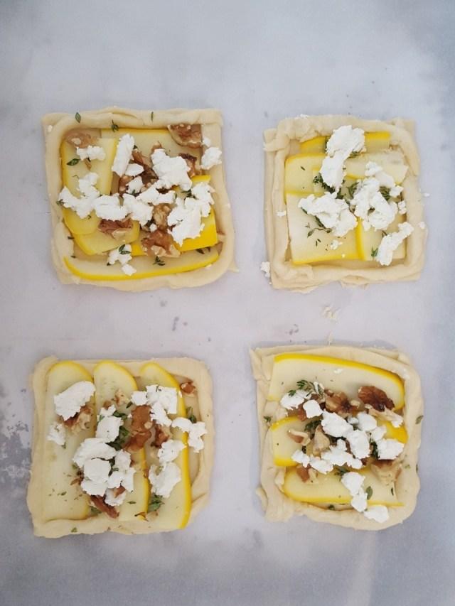 zucchini goat cheese tart prebake