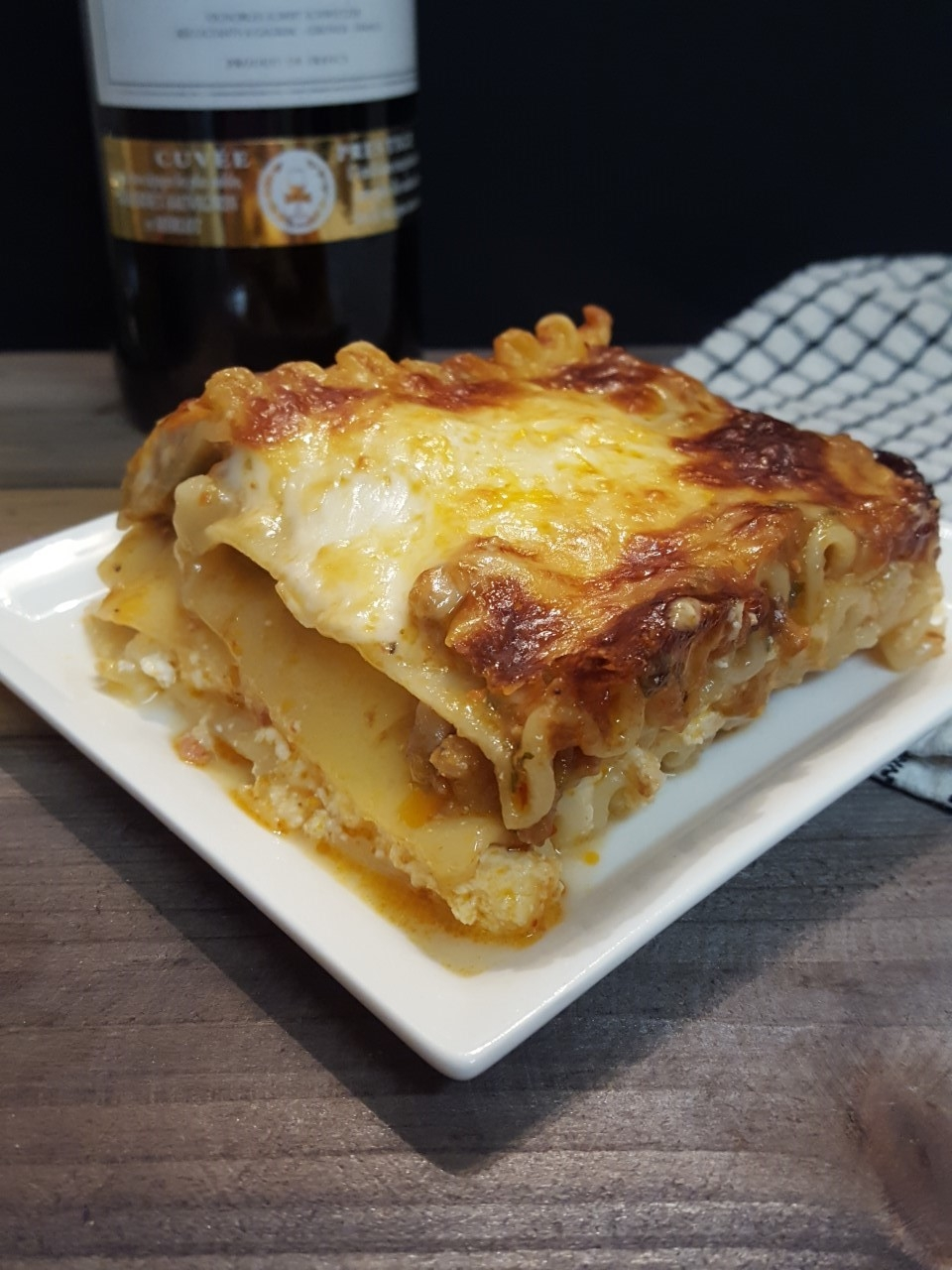 box top roasted garlic lasagna