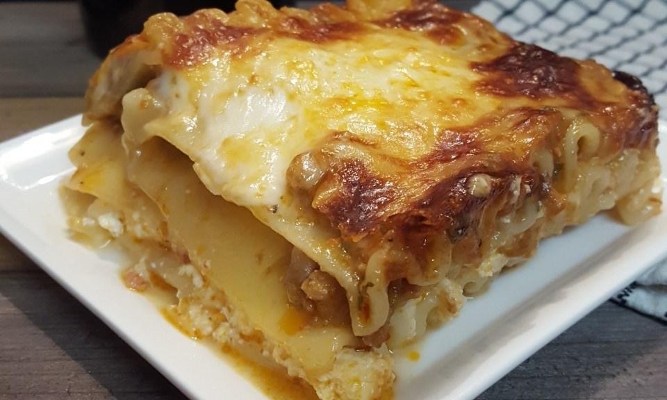 box top roasted garlic lasagna