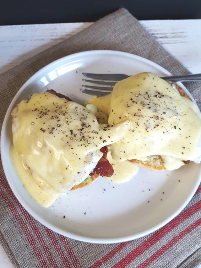 Bacon Avocado Eggs Benedict