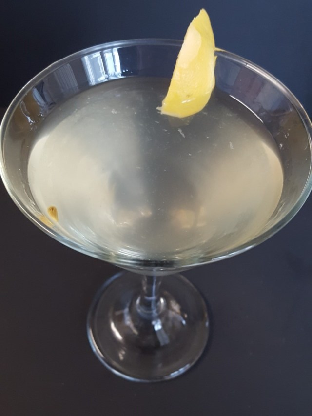 Dirty Lemon Martini