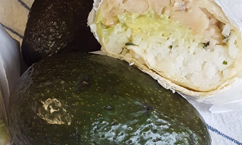 White Bean Avocado Wrap