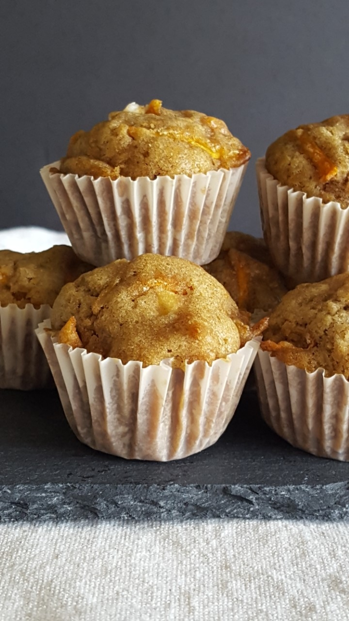 Carrot Cake Cream Cheese Mini Muffins
