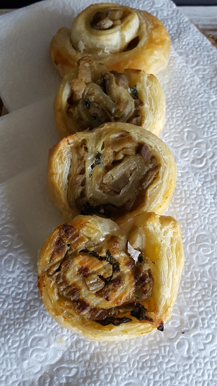 green curry eggplant pinwheels