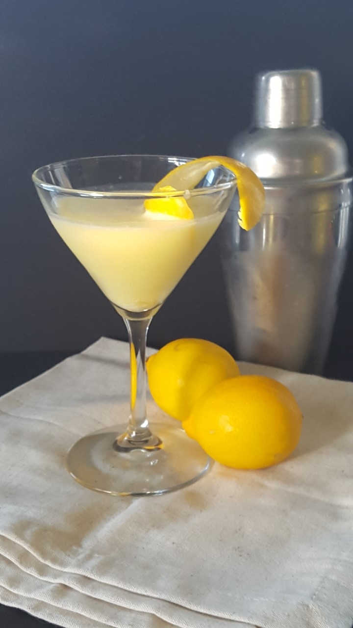 Meyer Lemon Curd Martini