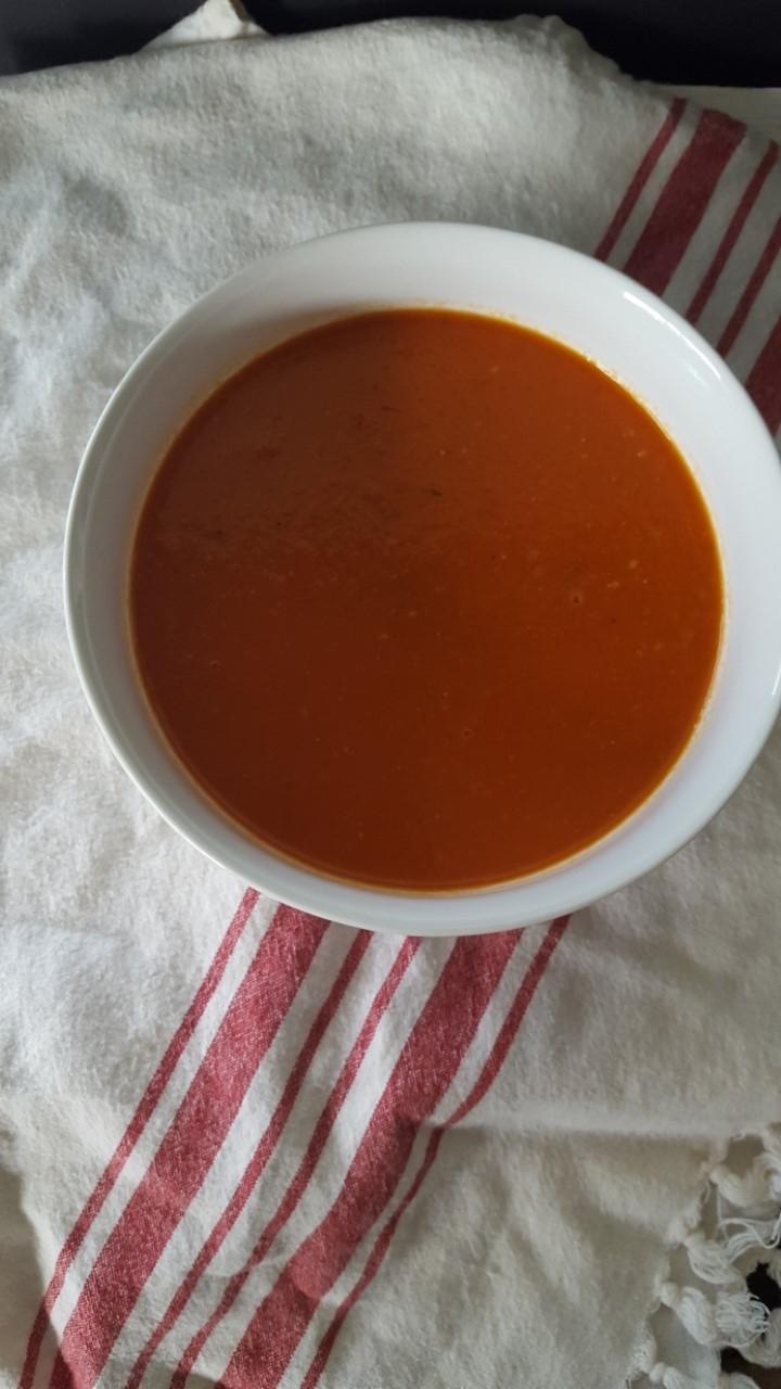 Creamy Tomato Dukkah Spice Soup