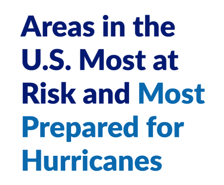 Areas in the U.S. Most at Risk and Most Prepared for Hurricanes