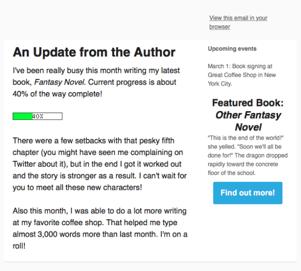 How to Write a Fantastic Author Newsletter | Fix My Story