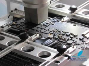 Problema na placa lógica do MacBook
