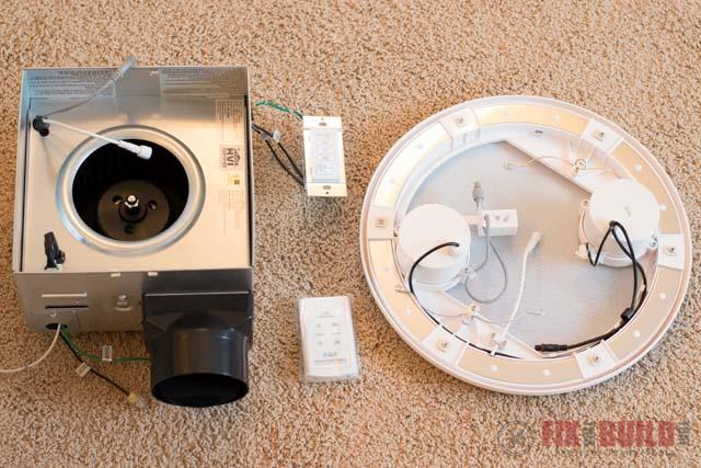 bathroom fan with bluetooth speakers