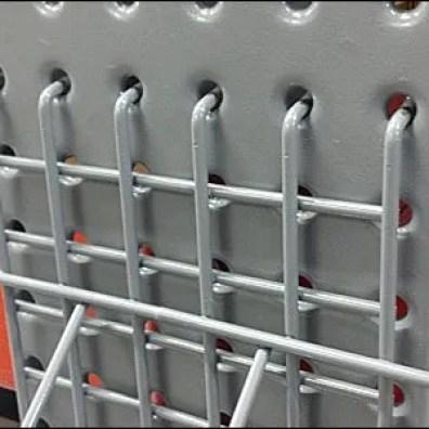 Multi-Lugged Perfed Metal Mount Tray Closeup