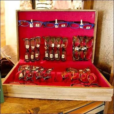 Silverware Box as Eyewear Display Detail