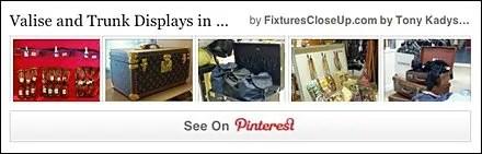 Valise and Trunk Displays FixturesCloseUp Pinterest Board