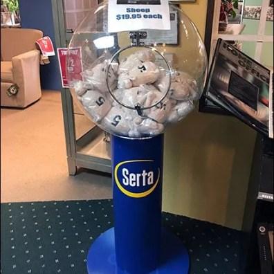 Serta Sheep Sale Gumball Machine 1