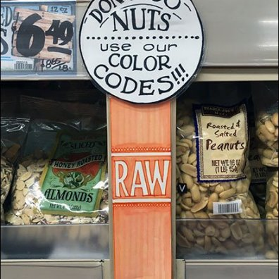 Trader Joes Nut Color Code 1