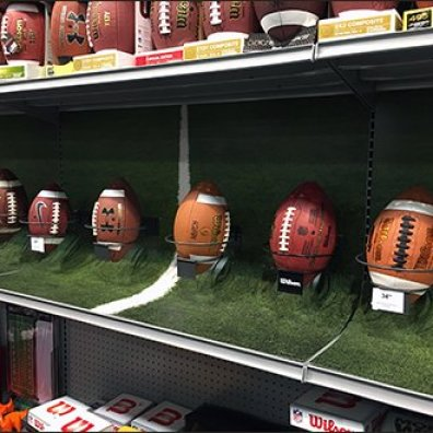 Double Ring Hook For Football Display