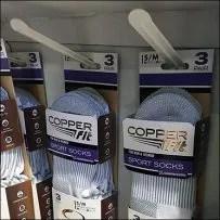 Copper Fit Brand Unisex Sport Socks Standalone