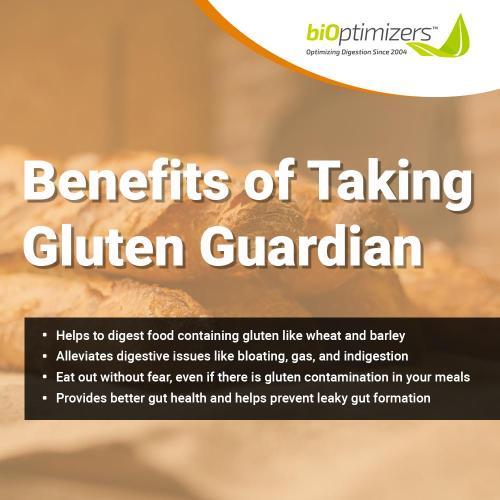 Bioptimizers Gluten Guardian Benefits