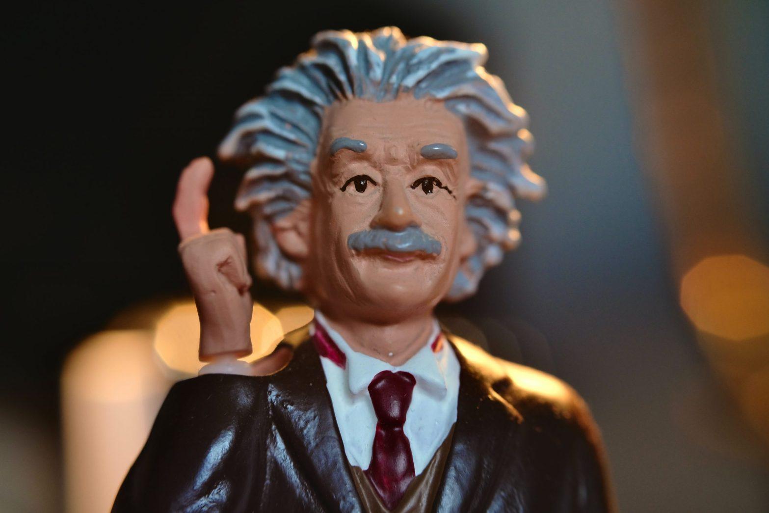 Albert Einstein bobblehead - getting unstuck