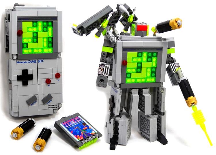 Gameboy Lego Transformer