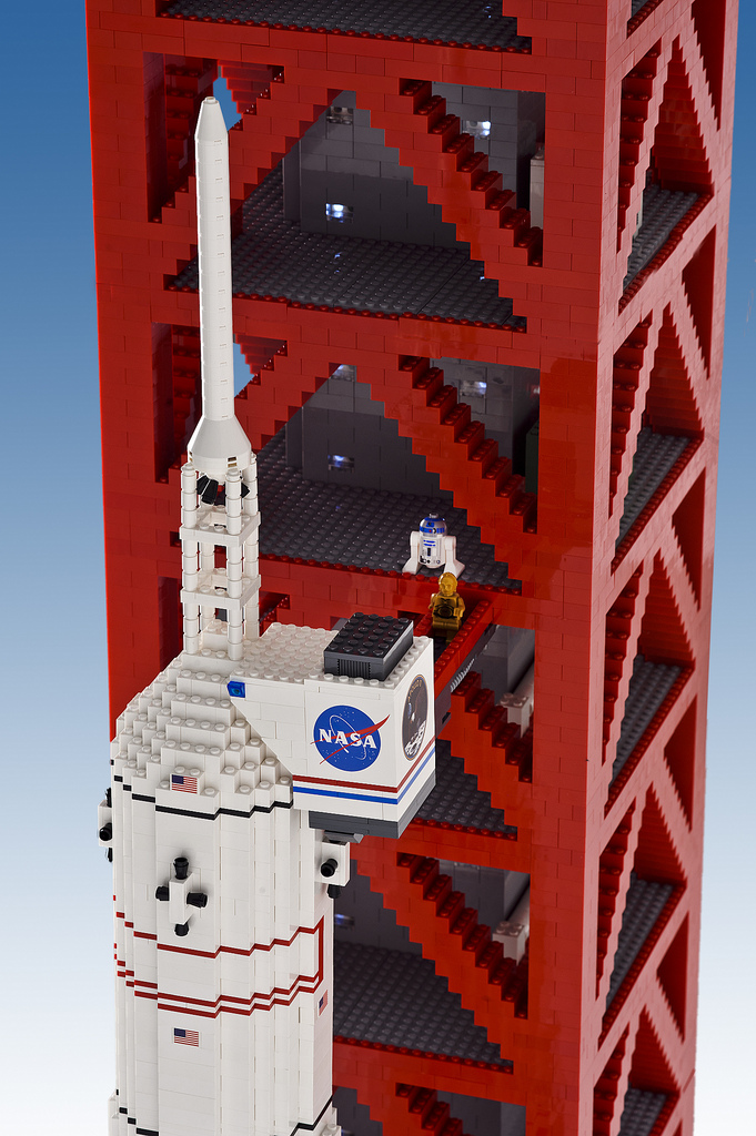 19-foot-tall LEGO model of Apollo