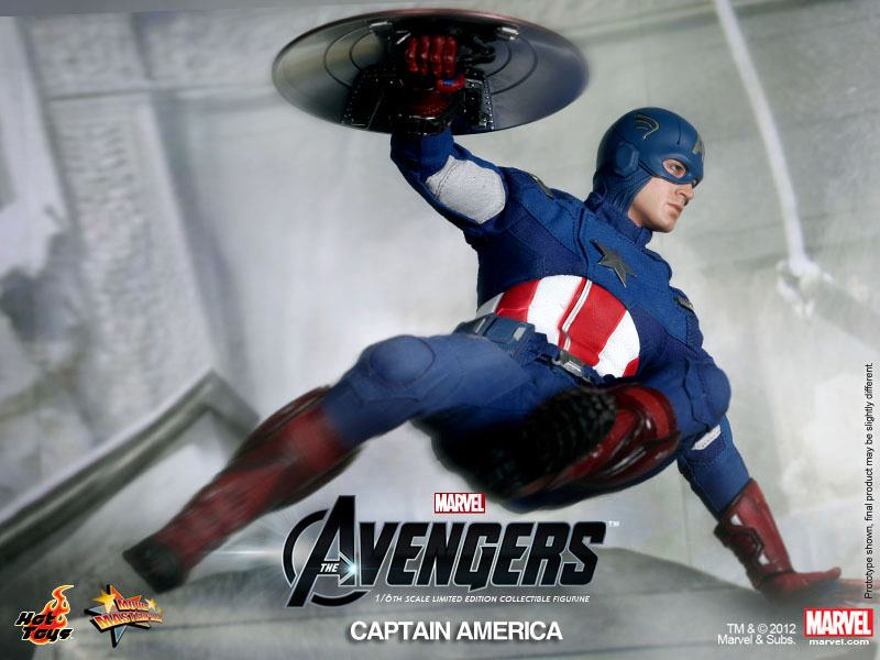 THE AVENGERS - Hot Toys CAPTAIN AMERICA Collectible Action Figure