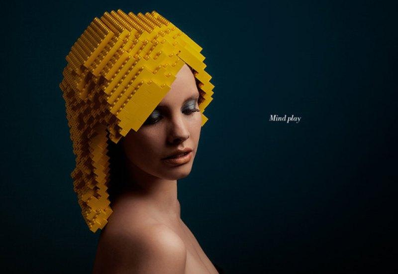 Models Wearing LEGO Wigs