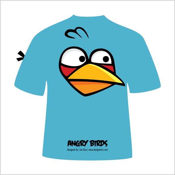 Free-Vector-Blue-Angry-Bird-T-Shirt-Design