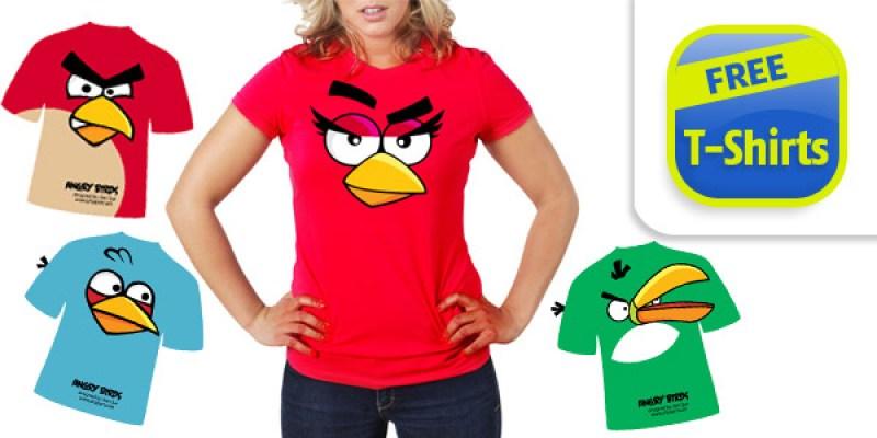 free angry birds tshirt