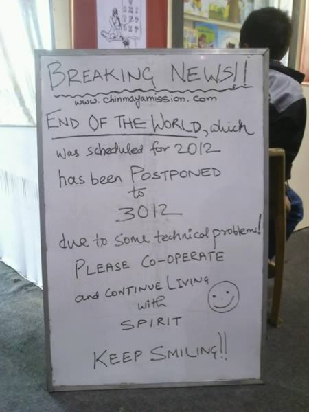 Hilarious End Of The World Signs (2)