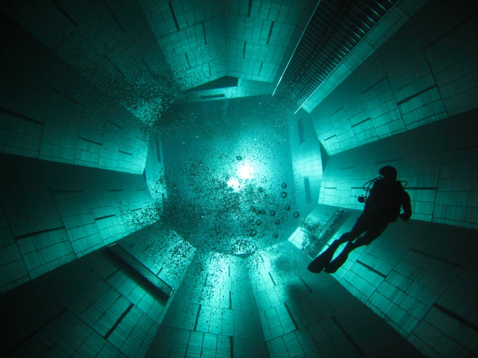 World's Deepest Indoor Swimming Pool