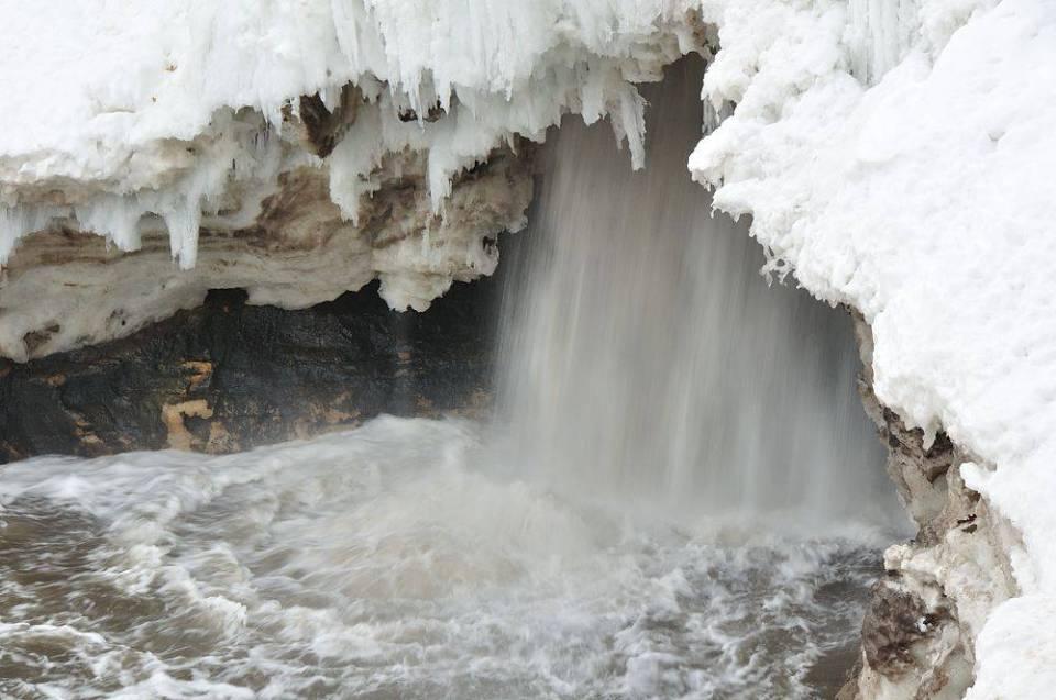 Behind A Frozen Waterfall