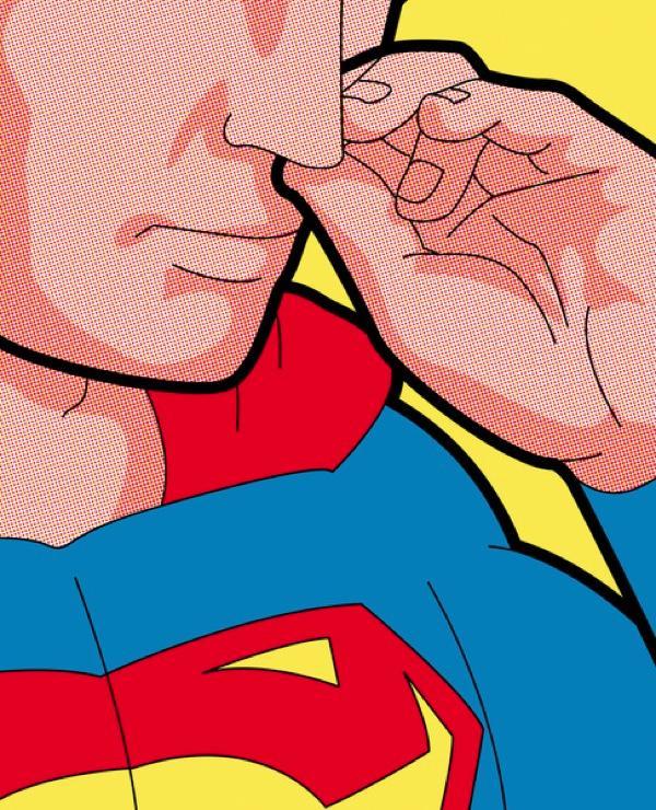 superhero normal life art