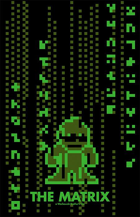 matrix 8-Bit Movie Posters