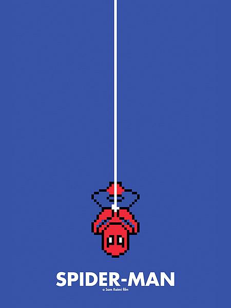 spider man 8-Bit Movie Posters
