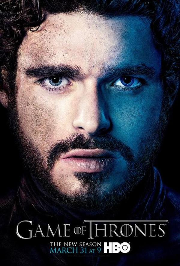 robb game of thrones season 3 poster