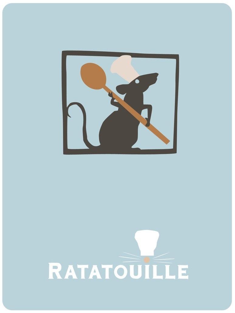 ratatouille Minimalistic Movie Posters.