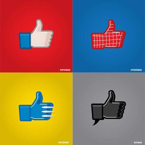 Superhero Facebook Like