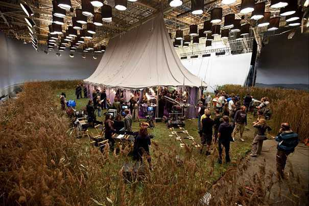 Behind the scene photo from Harry Potter