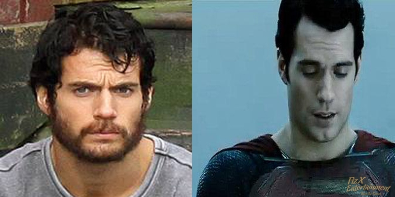 Henry Cavill bearded and shaved