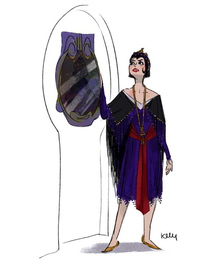 Disney Villains In The 1920S Style