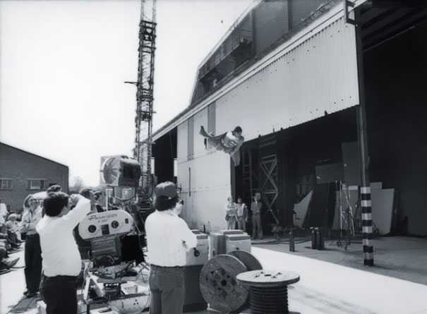 Behind the scene photo from Superman
