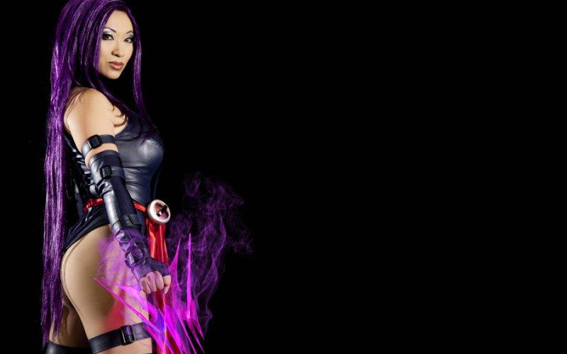 Psylocke sexy costume cosplay
