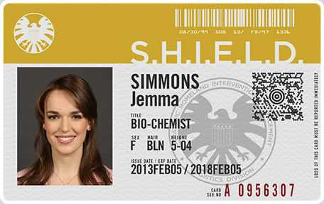 The Agents Of Shield on Their Badges