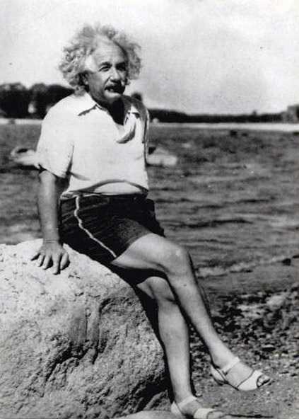 Albert Einstein looking fabulous.