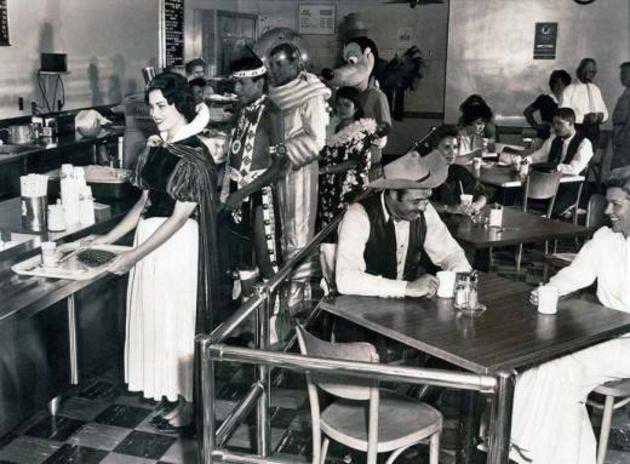 Disneyland employee cafeteria in 1961.
