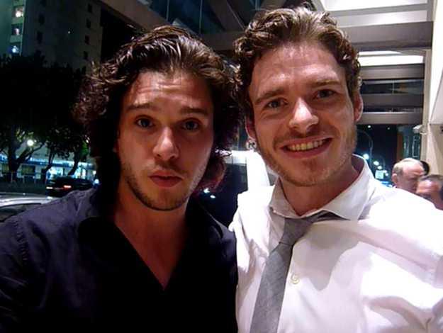 Stark and Snow selfie