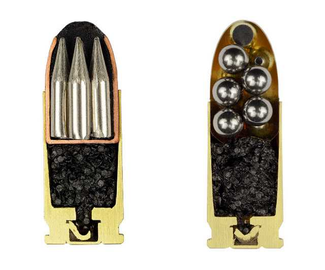 Cross Sections Of Various Ammunition