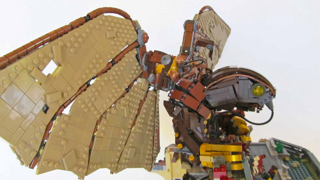 LEGO recreation of Songbird from Bioshock Infinite